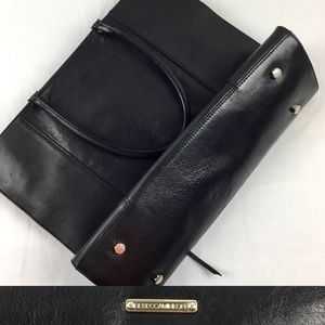 Rebecca Minkoff Black Leather Purse Large W/ Gold